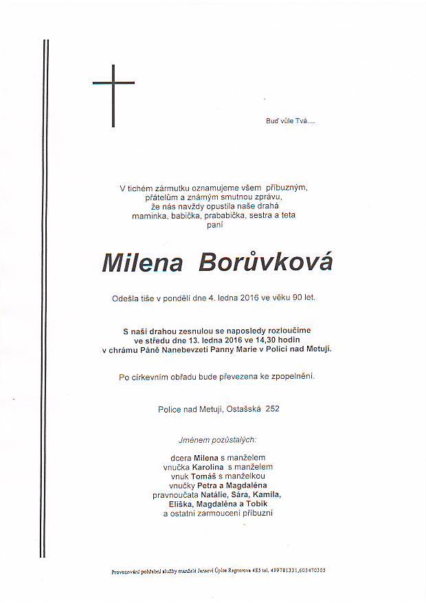 boruvková