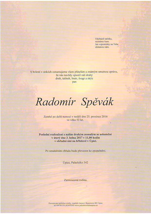 pan  Radomír Spěvák