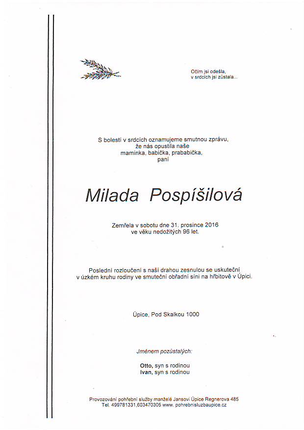 Milada Pospíšilová